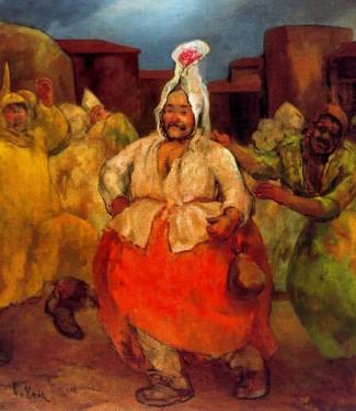 Óleo pintado por Cipriano el Hojalatero.