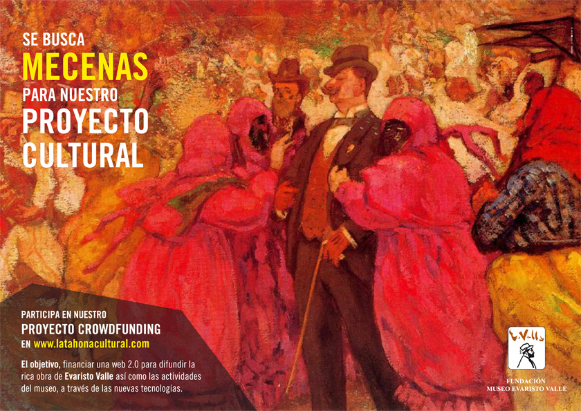 cartel mecenazgo Museo Evaristo Valle