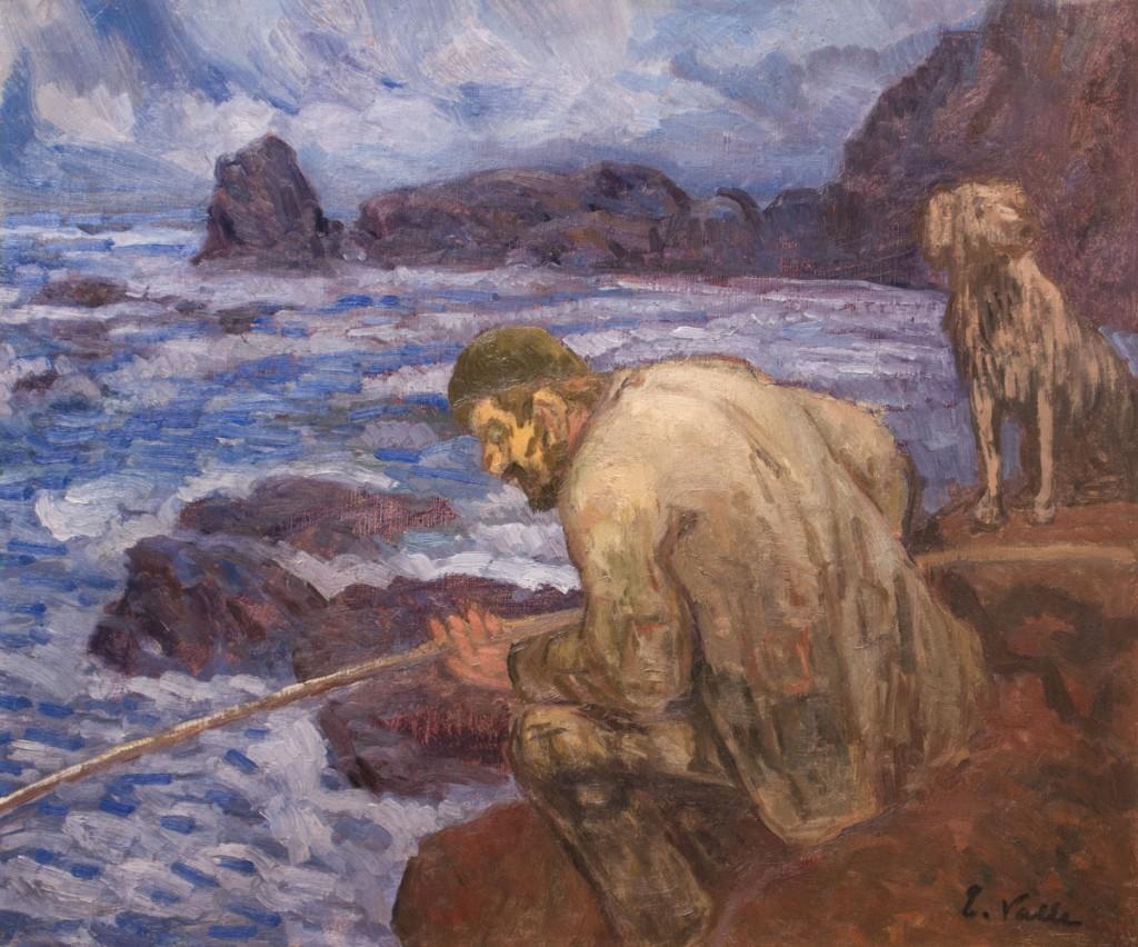 """""""El Pescador"""", h. 1918. Óleo sobre lienzo, 47 x 55 cm"""
