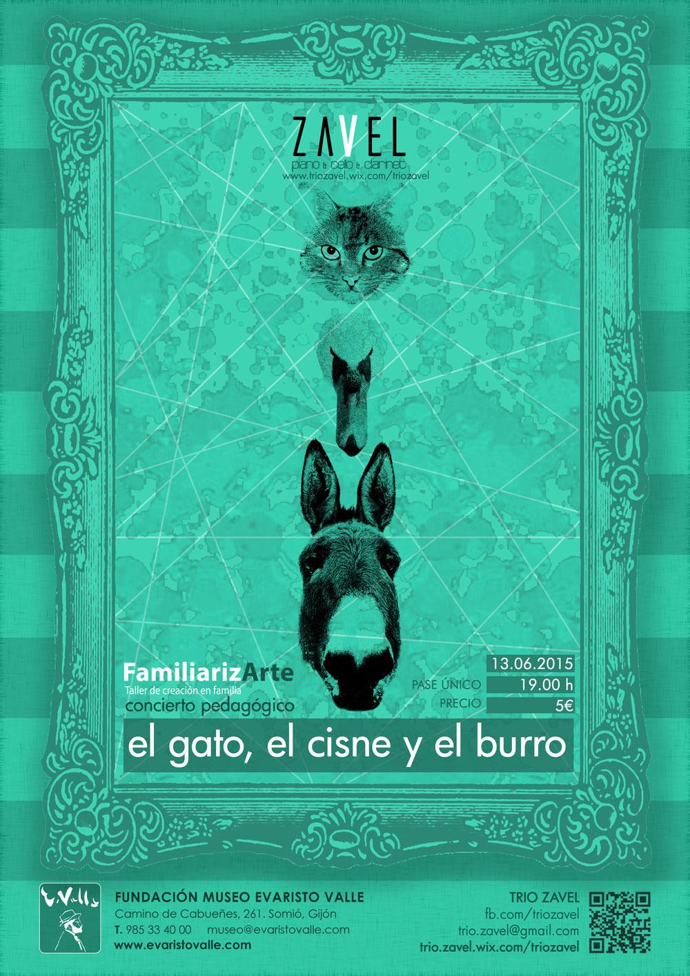 #Asturias con niños: El gato, el cisne y el burro: concierto familiar en Gijón el sábado
