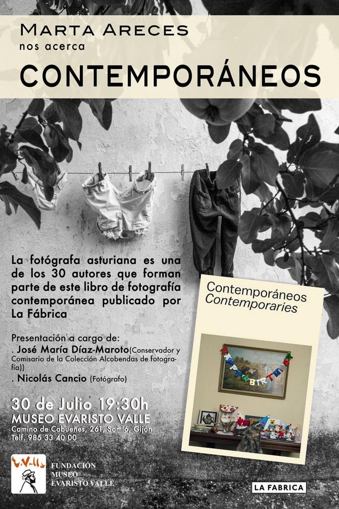 Cartel de la presentación de Contemporaneos en el Museo Evaristo Valle