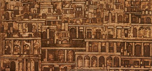"""""""La ciudad herida. Colografías de José Luis Posada"""" en la Casa de los Hevia, Villaviciosa"""