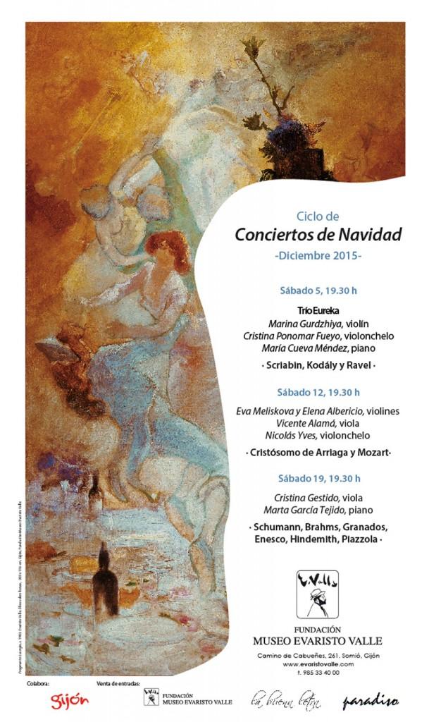 Cartel de los conciertos de Navidad en el Museo Evaristo Valle