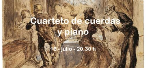 16 jul – 20-30 h // Cuarteto de cuerdas y piano