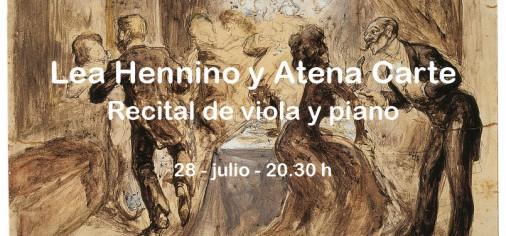 28 jul – 20.30 h // Recital de viola y piano: Lèa Hennino y Atena Carte