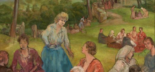 La obra de paso: Jueves de Comadres, c. 1921 (repintado c. 1948)