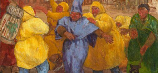 """11 de julio de 2019 // 146 aniversario de Evaristo Valle y presentación de """"Mascarada marinera en Cimadevilla"""", c. 1918"""